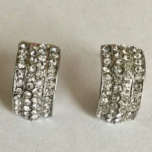 4 Row Diamond Earrings